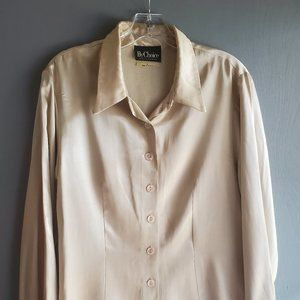 """""""By Choice"""" Gold Blouse - fits as a Medium"""